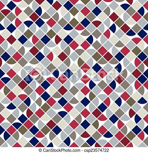 colorito, astratto, geometrico, quadrato, seamless, vettore, fondo - csp23574722