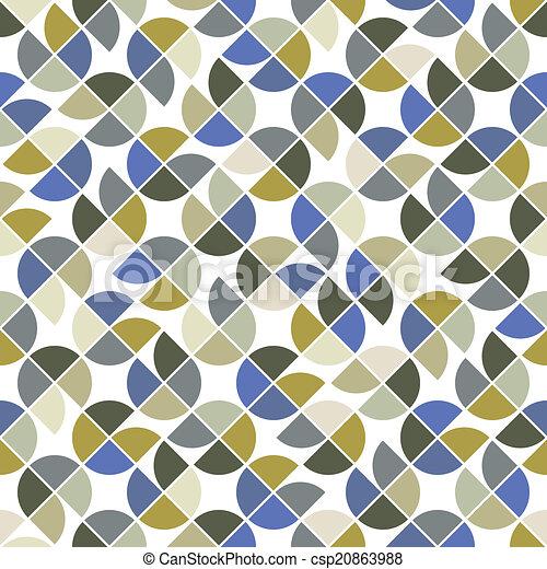 colorito, astratto, geometrico, quadrato, seamless, vettore, fondo - csp20863988