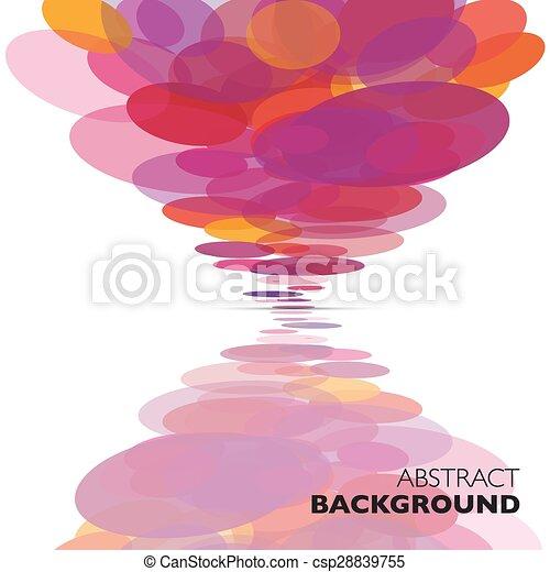 colorito, astratto, geometrico, vettore, fondo. - csp28839755