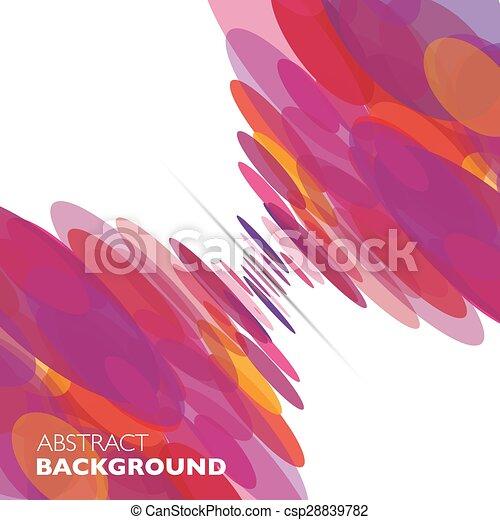 colorito, astratto, geometrico, vettore, fondo. - csp28839782