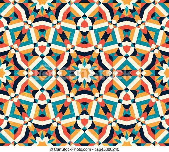 colorito, astratto, pattern., seamless, fondo., geometrico - csp45886240