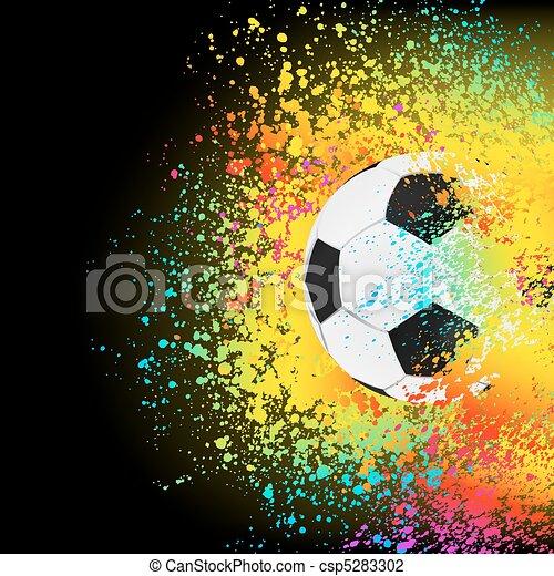 colorito, eps, fondo, 8, calcio, ball. - csp5283302