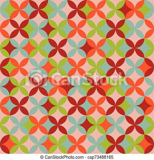 colorito, geometrico, seamless, modello, fondo., astratto, design. - csp73488165
