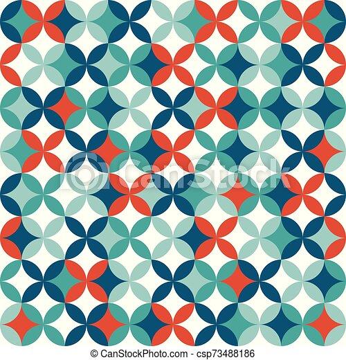 colorito, geometrico, seamless, modello, fondo., astratto, design. - csp73488186