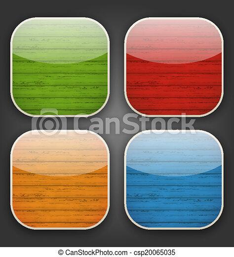 colorito, icone, legno, app, sfondi, struttura - csp20065035