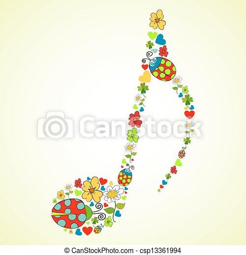 colorito, musica, struttura, fondo - csp13361994