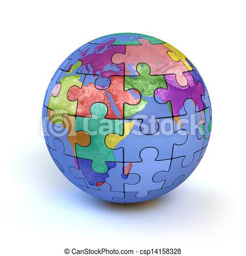 Colorito puzzle terra pianeta tuffo sviluppo - Collegamento stampabile un puzzle pix ...