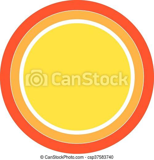colorito, sole, vettore, disegno, icon., element. - csp37583740