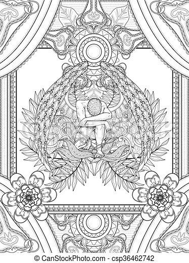 coloritura, pagina, angelo - csp36462742