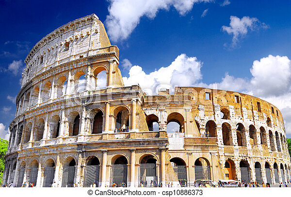 colosseum, 著名的里程碑, rome., 世界 - csp10886373