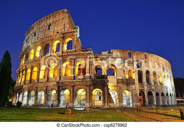 Colosseum at dusk - csp6279962