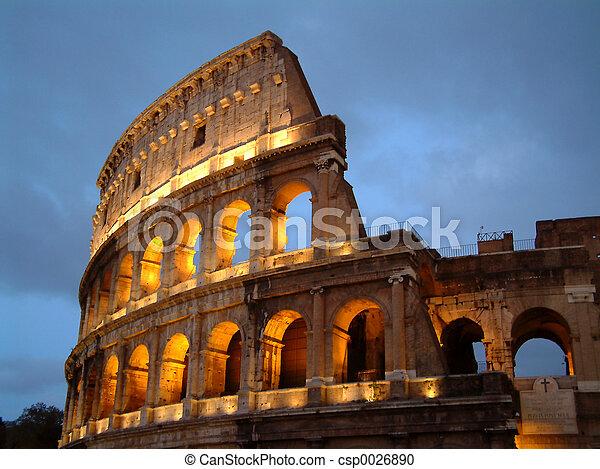 Colosseum at Night - csp0026890