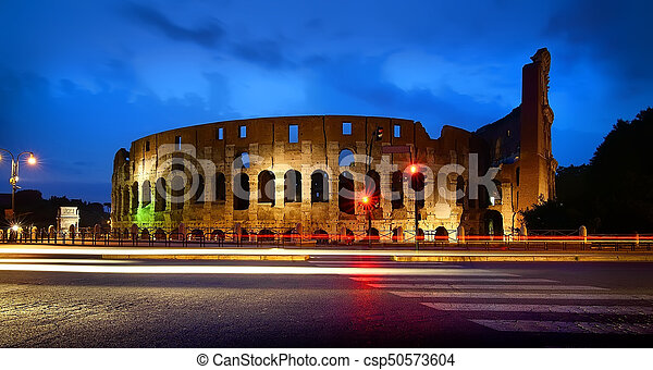 Colosseum at the sunset - csp50573604