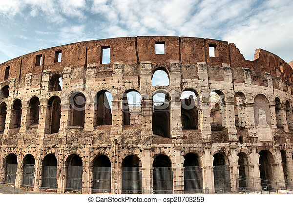 Colosseum in Rome, Italy - csp20703259