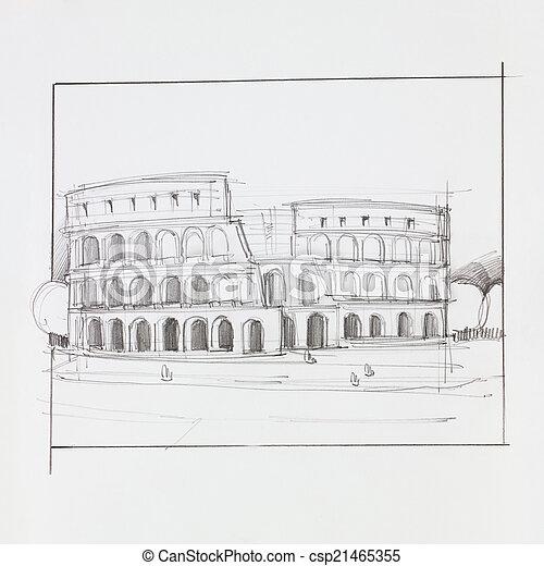 colosseum, rom - csp21465355