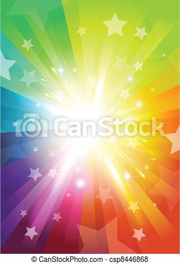 Colour Burst Background - csp8446868