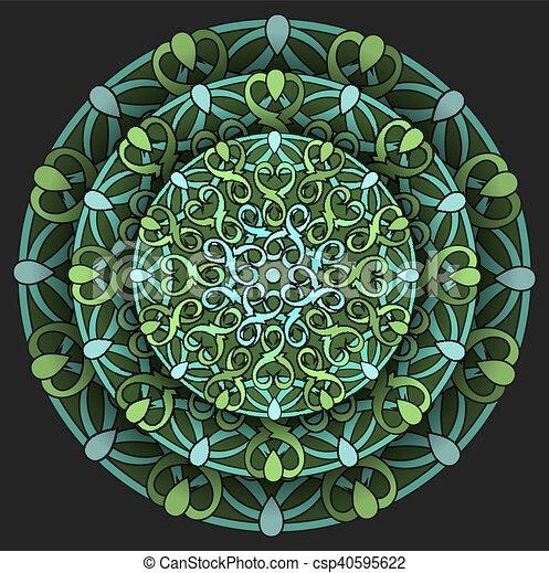 colour decorative design element - csp40595622