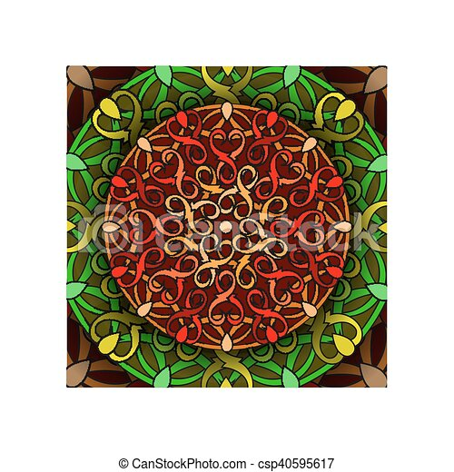 colour decorative design element - csp40595617