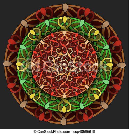 colour decorative design element - csp40595618
