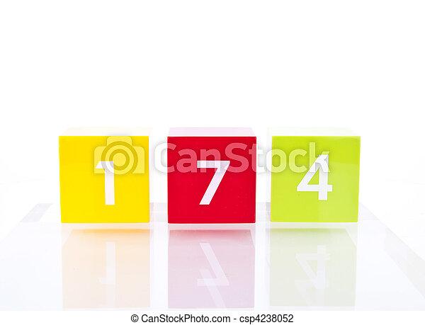 Colour Number Blocks - csp4238052