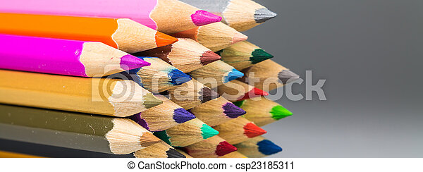 Colour pencils isolated background - csp23185311