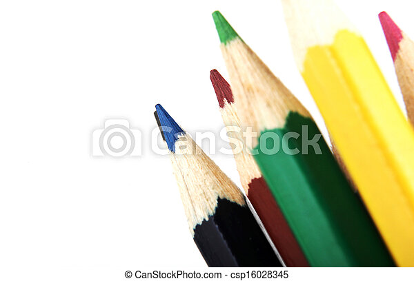 Colour Pencils Isolated On White Background - csp16028345