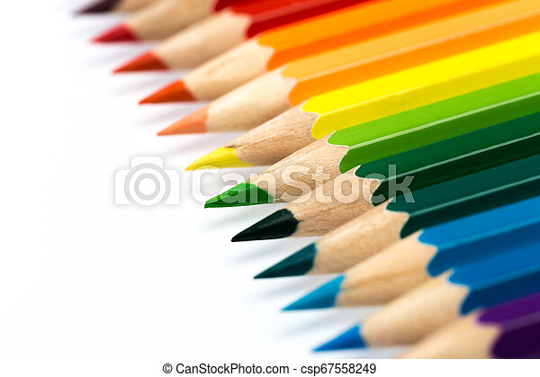colour pencils isolated on white background - csp67558249