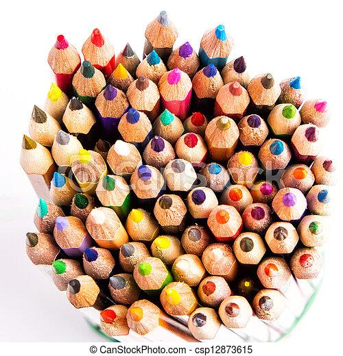 Colour pencils isolated - csp12873615