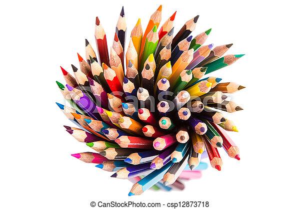 Colour pencils isolated - csp12873718