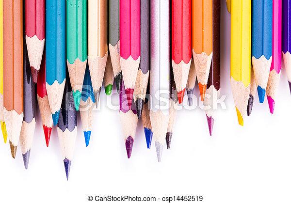 Colour pencils isolated - csp14452519