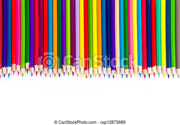 Colour pencils isolated - csp12873689