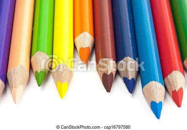 colour pencils isolated - csp16797580