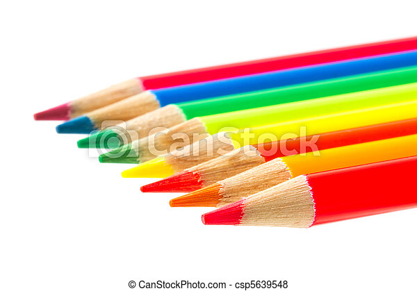 Colour pencils isolated - csp5639548
