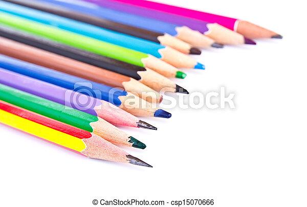 Colour pencils isolated - csp15070666