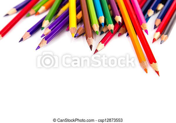 Colour pencils isolated - csp12873553