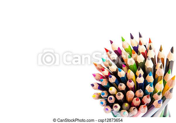 Colour pencils isolated - csp12873654