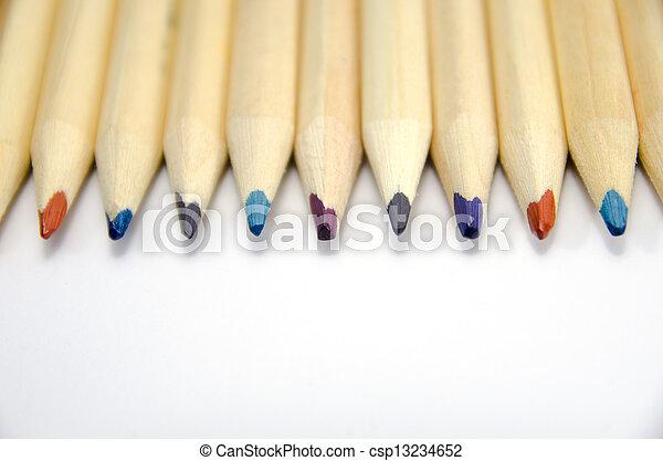 Colour pencils isolated - csp13234652