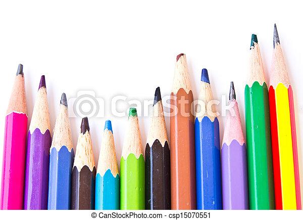 Colour pencils isolated - csp15070551