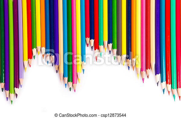 Colour pencils isolated - csp12873544