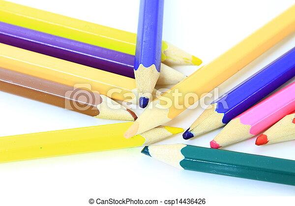 Colour pencils isolated - csp14436426