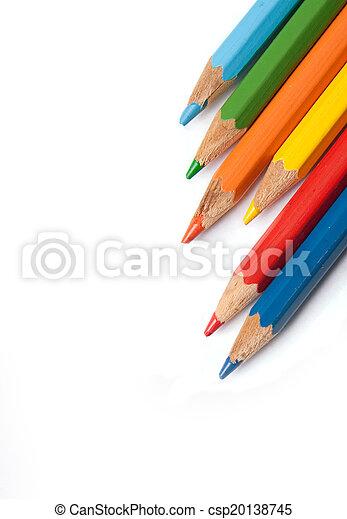 colour pencils isolated - csp20138745