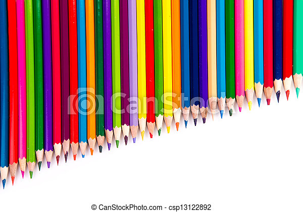 Colour pencils isolated - csp13122892