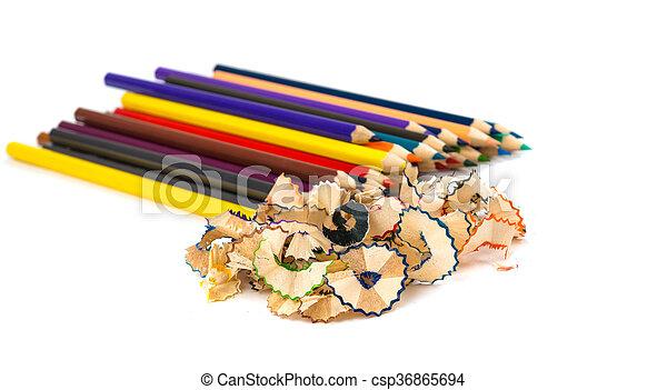 Colour pencils isolated - csp36865694