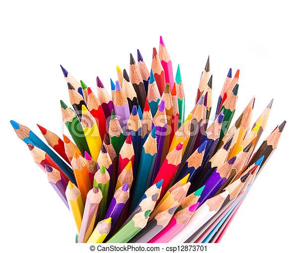 Colour pencils isolated - csp12873701