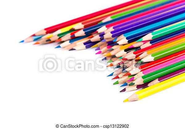 Colour pencils isolated - csp13122902