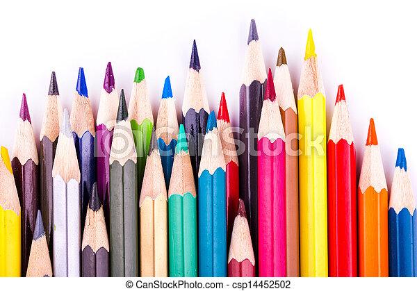 Colour pencils isolated - csp14452502