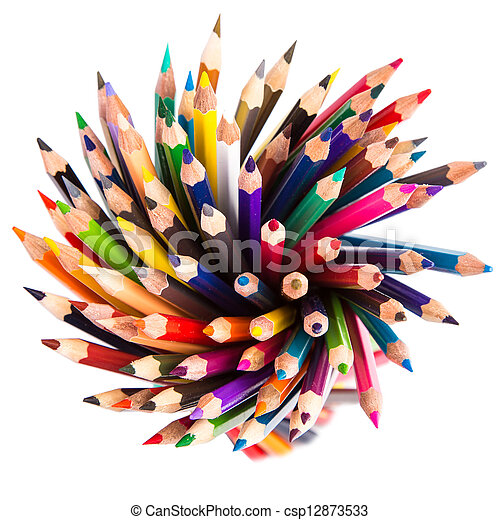 Colour pencils isolated - csp12873533