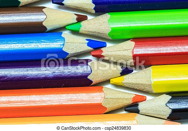 Colour pencils on white - csp24839830