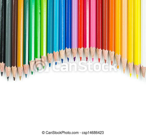 Colour pencils  - csp14686423