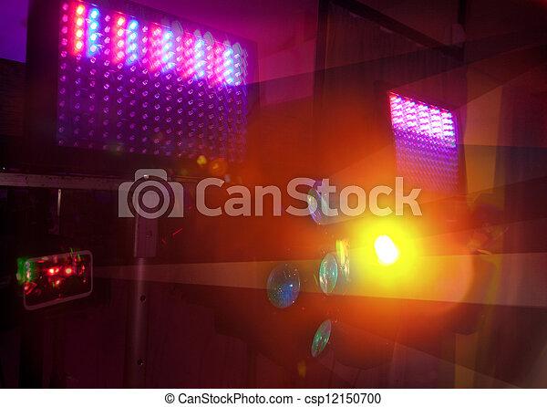 Colour spotlights illumination on scene - csp12150700